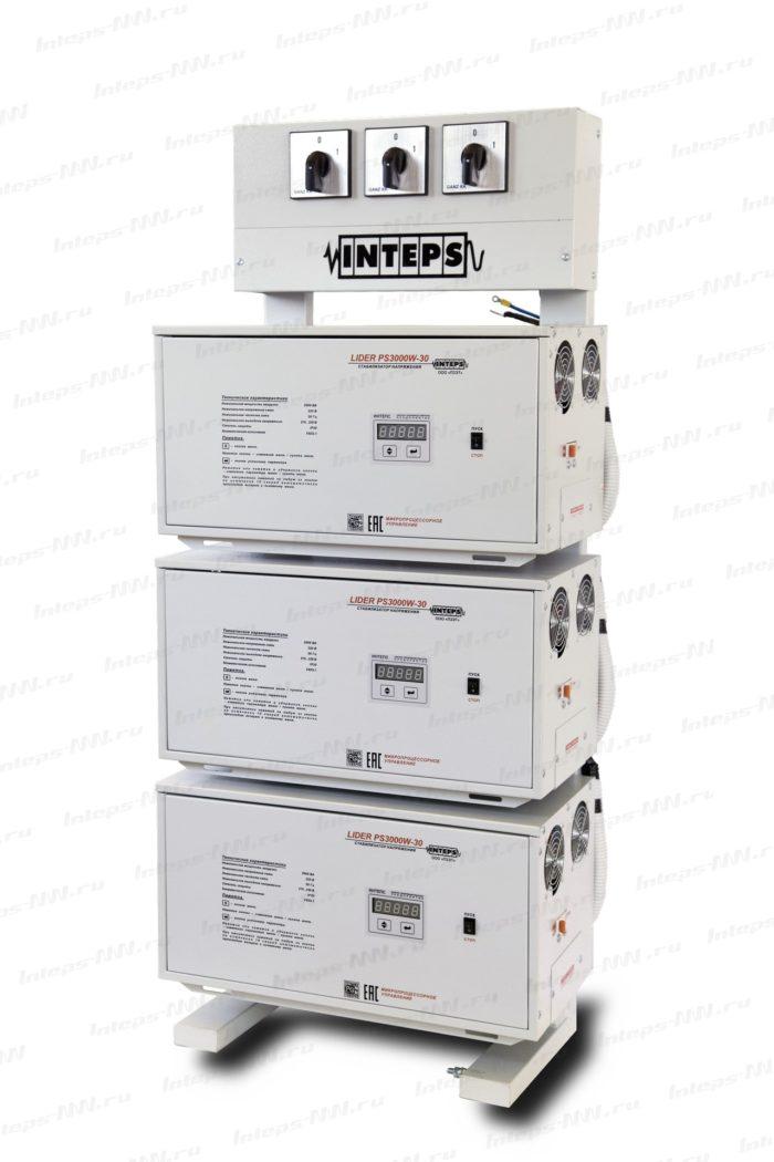 Трехфазный стабилизатор напряжения Lider PS30W-HOME-30