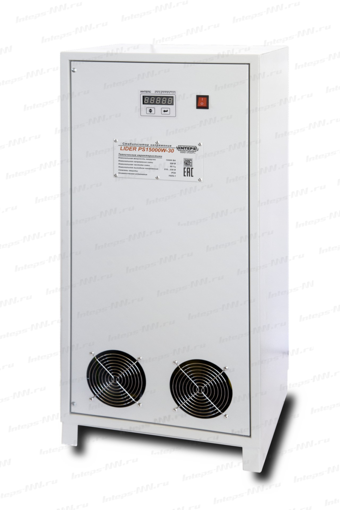 Однофазный стабилизатор напряжения Lider PS10000W-SD, 220в, для дачи