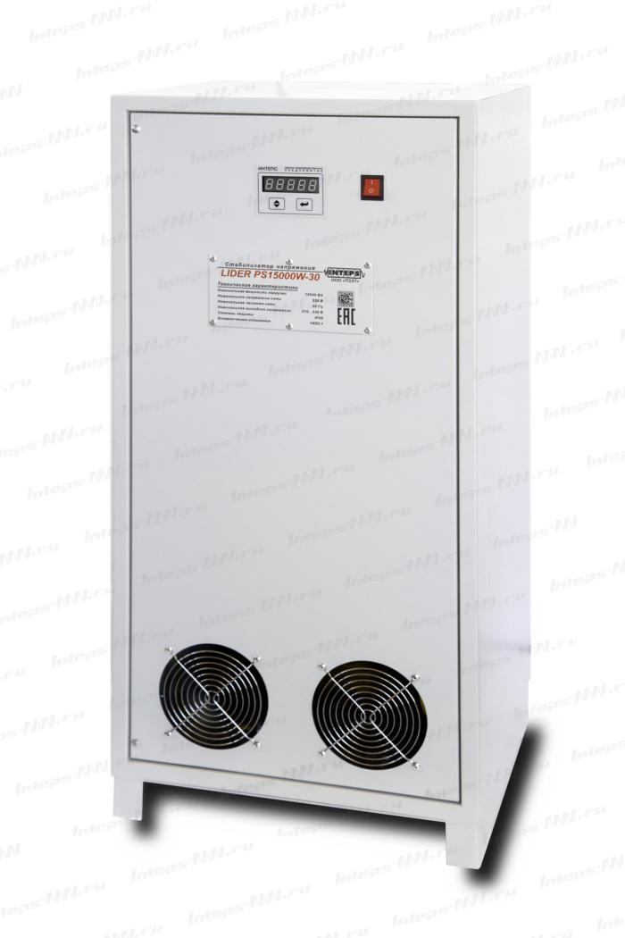 Однофазный стабилизатор напряжения Lider PS12000W-SD, 220в, для дачи